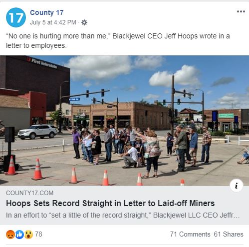 """In A Letter To Laid-Off Workers Ousted CEO Says, """"No one is"""